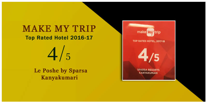 Top Rated Hotel 2016 by Makemytrip