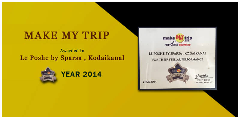 stellar performance award by makemytrip