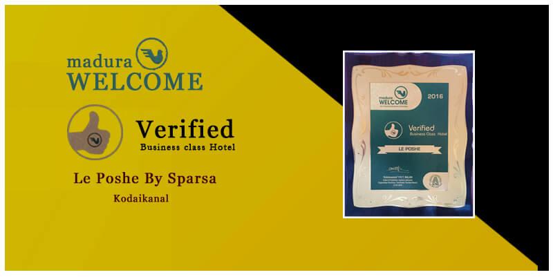 verified business class hotel award by madura