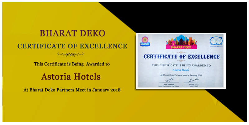 Certificate of Excellence by Bharat Deko
