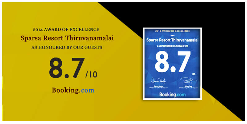 2014 award of excellence by booking.com