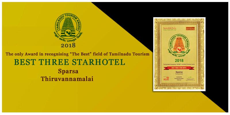 Best eco fridendly hotel 2018 by tamilnadu tourism award